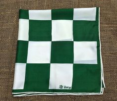 Green and white checked Vera Neumann scarf by TwoSwansSwimming