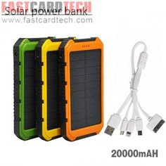 Power Bank 20000mah Portable Waterproof Solar Vinsic Dual USB Powerbank Battery Charger For All Mobile Phone