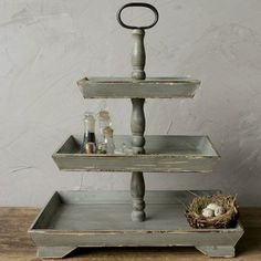 Going to make this using serving trays and candle holders