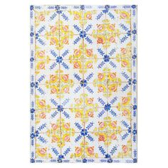 Wagoner Tiles Yellow Area Rug