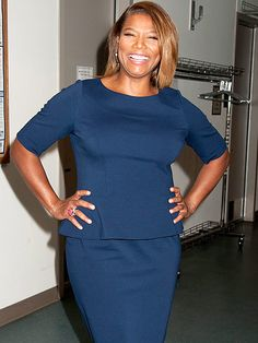 Star Tracks: Friday, April 24, 2015 | 'BET' ON IT | Also at the BET Upfronts: Queen Latifah, who has a laugh backstage on Thursday.