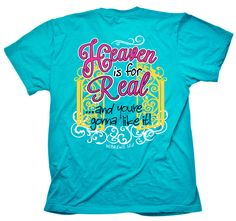 Cherished Girl Heaven is for Real Gates Christian T-Shirt
