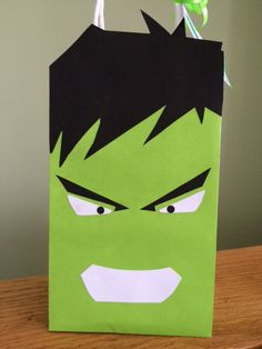 CUSTOM ORDER for 13 Incredible Hulk Themed Party Favor Bags - Personalized