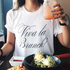 Viva la Brunch! boyfriend tee | Shop Blonde Design