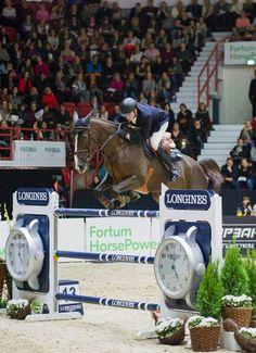 Romain Duguet with Quorida de Treho win in Helsinki. Helsinki International Horse Show, Finland, October 2016