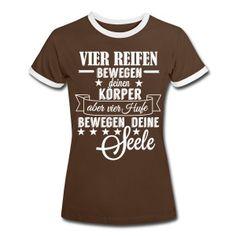 Pferde Hufe T-Shirts - Frauen Kontrast-T-Shirt