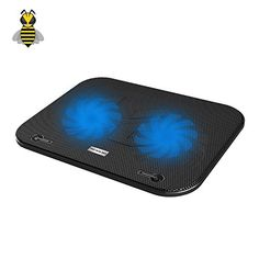 Tree New Bee TNBF003 Laptop Cooling Pad  Fits up to 156  smaller laptops  notebooks  Strong  Durable ABS  Metal Mesh  Fits easily on your lap or any flat surface  Keeps Your Laptop Cool *** Click on the image for additional details. (Note:Amazon affiliate link)