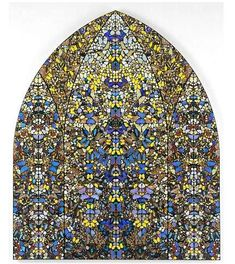 """""""Aubade, Crown of Glory"""" by Damien Hirst, not stained-glass, but butterfly wings. via @wikipaintings"""