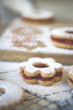 Blood Orange Linzer Cookies