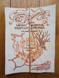 Potter Frenchy Party - Mini marauder's map - Harry Potter DIY