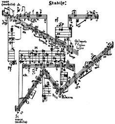 """Sylvano Bussotti (1931~) Sette Fogli """"Mobile-Stabile per Chitarre, Canto e Piano"""""""