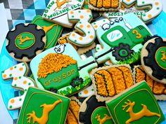 John Deere Birthday Cookies