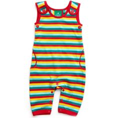 These gorgeous and soft Little Green Radicals dungarees are made from the softest organic fairtrade interlock cotton, have two buttons at the straps and pockets and are in a bright summer stripe design. Summer Stripes, Dungarees, Stripes Design, Playsuits, Organic Cotton, Rompers, Green, Shopping, Clothes