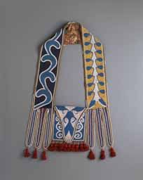 Native American Indian artifact from the Warnock collection - Creek or Seminole Bag, Bandolier, ca 1825-50