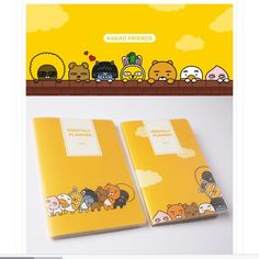 Kakao Friends Official Goods 2017 New Year Diary Schedule Monthly Planner Note #KakaoFriends