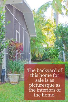 Step out into the back patio of this home for sale and enjoy a picturesque view of your own backyard!