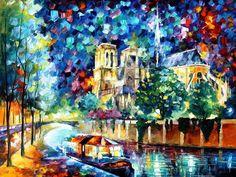 River of Paris by Leonid Afremov by Leonidafremov