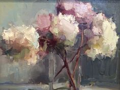 Lisa Noonis (American, b. York, ME, USA) - Dried Hydrangea Paintings: Oil on Canvas Painting Still Life, Still Life Art, Hydrangea Painting, Art Oil, Painting Inspiration, Flower Art, Painting & Drawing, Watercolor Art, Art Photography