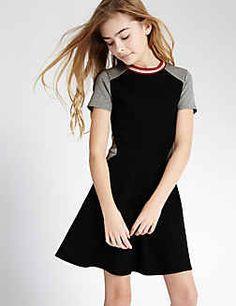 Colour Block Dress (3-14 Years)
