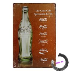 Free shipping COKE Metal Poster Tin Sign Vintage Plaques Decorative Painting Retro Signs 20*30cm