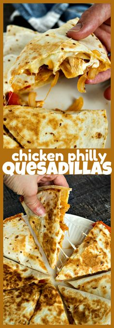 Mexican food recipes 178666310205983458 - Chicken Philly Quesadillas – Tortillas are stuffed with cooked chicken, melted Provolone cheese, and tender onions & peppers. Great for dinner or for parties. Source by vickycat Healthy Eating Recipes, Clean Eating Snacks, Mexican Food Recipes, Cooking Recipes, Healthy Food, Cooking Dishes, Cooked Chicken, How To Cook Chicken, Recipe Chicken