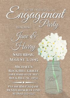 """Engagement Party Invitation 