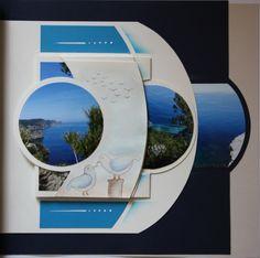 Série de pages Porto Valparaiso. 1ère page avec feuillet accordéon. Détails : http://nathaliemacioszek.blogspot.fr/