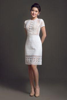 Little White Dresses, Lovely Dresses, Simple Dresses, Casual Dresses, Short Dresses, Dresses For Work, Chic Dress, Classy Dress, Lace Dress