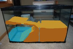 (link) 29gal Crabitat Build Thread - Aquarium Advice - Aquarium Forum Community ~~~ WARNING: when creating a built-in water reservoir / pool, be wary of potential water leaks. Least little seepage will likely case a life-threatening flood issue . ~ for more great PINs w/good links visit @djohnisee ~ have fun!