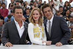 Bright spark:Her new movie Sicario is a gritty drug-trade thriller but Blunt brightened u...