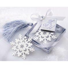 Kate Aspen ''Snowflake'' Bookmark with Elegant Ice-Blue Tassel