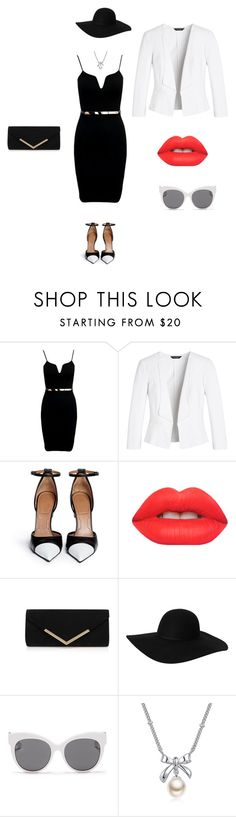 """""""Black pearl"""" by binguaya ❤ liked on Polyvore featuring White House Black Market, Givenchy, Lime Crime, Carvela Kurt Geiger, Monki, Blanc & Eclare, MBLife.com, women's clothing, women's fashion and women"""