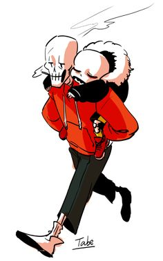 swap!papyrus and Fell!sans || carrot/ Cheeto and fell