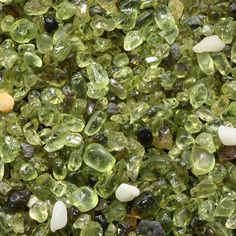 Olivine sand from Papakolea Beach near the southern tip of Hawaii Island (Big Island) green sand beach