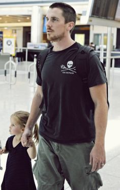 Christian Bale and his daughter