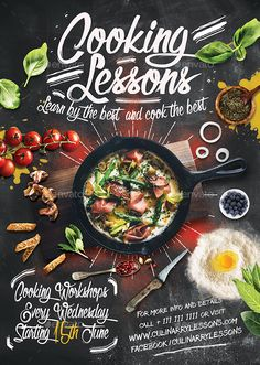 Buy Seafood Weekend Flyer by VORSA on GraphicRiver. Cooking For Beginners, Cooking For Two, Fun Cooking, Cooking Classes, Cooking School, Cooking Ideas, Healthy Cooking, Food Poster Design, Menu Design