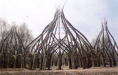 natural architecture - an emerging art movement that is exploring mankind's desire to reconnect to the earth, through the built environment. Nature Architecture, Organic Architecture, Land Art, Theme Design, Dame Nature, Natural Structures, Built Environment, Environmental Art, Natural World