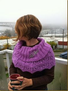 I stumbled across this wonderful picture of our Aluminum Celtic Loops and Spirals Shawl Pin on Ravelry. Knitting Projects, Crochet Projects, Hand Knitting, Knitting Patterns, Altered Clothes, Shawl Pin, Spinning Yarn, All Things Purple, Absolutely Fabulous