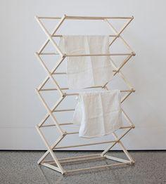 """(via Wooden Folding Clothes Drying Rack – Father Rabbit Limited) "" Wooden Clothes Drying Rack, Clothes Racks, Shabby, Interior Design, Storage, Furniture, Home Decor, Laundry Rack, Laundry Closet"