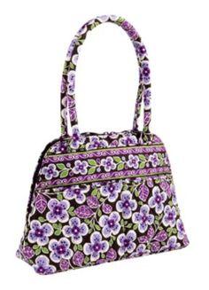 Vera Bradley Bowler Bag in   Plum Petals Print