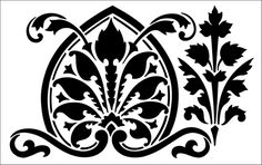 Border No 2 stencil from The Stencil Library REGENCY AND EMPIRE range. Buy stencils online. Stencil code ER2.
