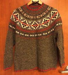 ☀Women's Eddie Bauer Legends☀Wool Crewneck Sweater Size XL Nordic Fair Isle  | eBay