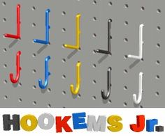 plastic utility pegboard hooks for home and garage - Pegboard Hooks