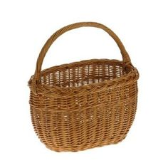This Oval Wicker Shopping Basket has its handle running the length of the basket instead of the usual width. It also has a plaited rim and is made from full buff willow wicker.