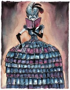 Madame Librarian - 8 x 10 Archival Giclee Print. Etsy