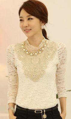 Beaded standing collar long sleeved elegant  lace dress just beautiful dress