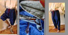 Репліка штанів 17ст, крій турецький, натуральний шовк, підкладки - льон, пошиту вручну шовковими нитками. Приватна власність замоника