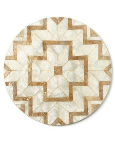 KIM SEYBERT Deco-Cut Capiz Placemats Set Of 2 $150 BEST PRICE & SATISFACTION GUARANTEED! FREE WORLD SHIPPING ORDER PICK UP IS ALSO AVAILABLE *WE ARE AN AUTHORIZED KIM SEYBERT RETAILER