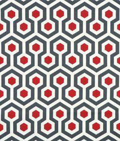 Premier Prints Magna Timberwolf Macon Fabric - $7.45 | onlinefabricstore.net #red #gray