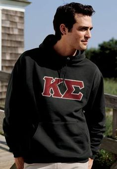 Campus Classics - On Sale! Kappa Sig Black Hoodie with Sewn On Letters: $38.95
